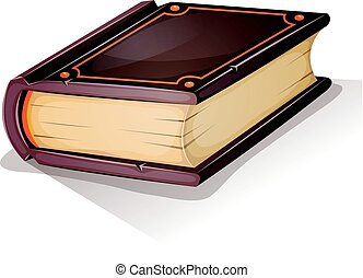 Cartoon Old Book - Illustration of a cartoon old big book or...