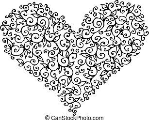 Romantic Heart vignette CCXIII - Romantic floral refined...
