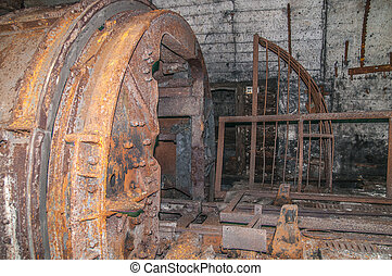Old derelict mine. - old abandoned coal mine tunnel