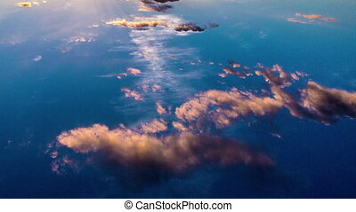 Time laps of the evening sky with beautiful clouds, Video...