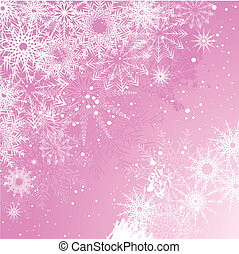 Pink snowflake background