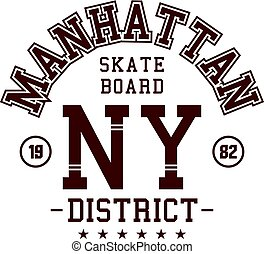 manhattan skater board - Graphic design manhattan skater...
