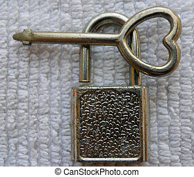 heart lock and key - lock with a heart key