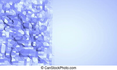 Blue low poly wavering surface as fantasy environment. Blue...