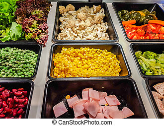 Salad Bar Fresh Vegetables . - Salad Bar Fresh Vegetables