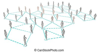 Crowd of 3D Figures