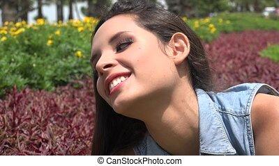 Teen Girl At Park