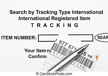 Search Tracking Number - Search item by entering Tracking...