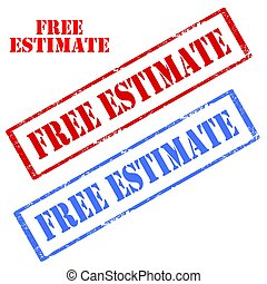 Free Estimate-stamps - Set of stamps with text Free...