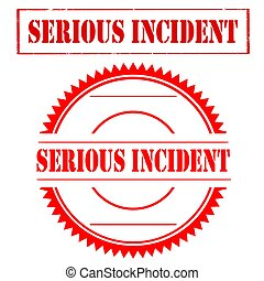 Serious Incident-stamps - Set of stamps with text Serious...