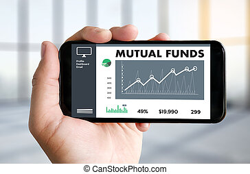MUTUAL FUNDS Finance and Money concept , Focus on mutual...