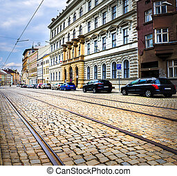 Historical sights of Olomouc in the Czech Republic. European...