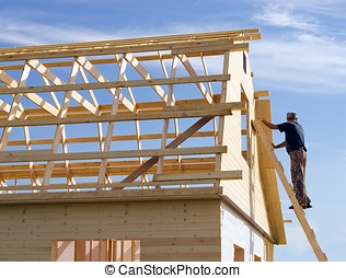 House construction - Construction of wooden frame houses