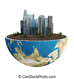 Green Planet Earth 3D (version 04)