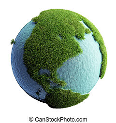 Green Planet Earth 3D (version 01)