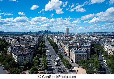 View of Paris from the Arc de Triomphe, France