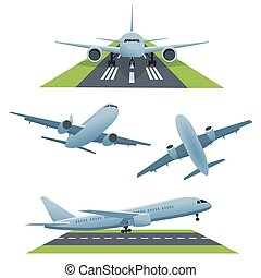 Set of planes in different views