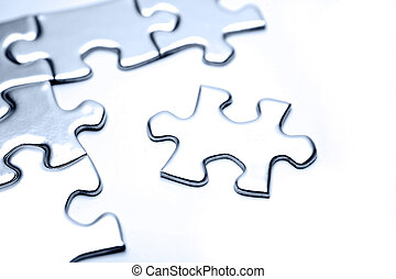 Puzzle pieces - Jigsaw puzzle pieces on white