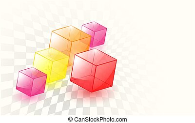 Abstract background 3d cubes