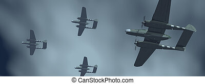 American night fighter aircrafts of World War II - Computer...