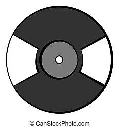 Vinyl record icon cartoon - Vinyl record icon in cartoon...