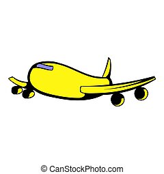Passenger airliner icon, icon cartoon