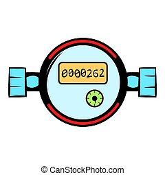 Water meters icon cartoon - Water meters icon in cartoon...