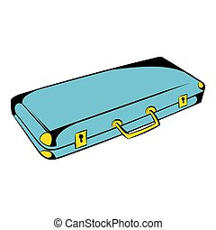 Suitcase for weapons icon cartoon - Suitcase for weapons...