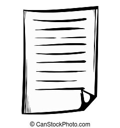 Lined paper icon cartoon - Lined paper icon in cartoon style...