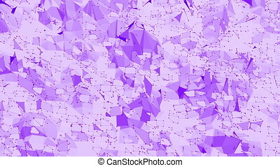 Violet or purple low poly waving surface as popular...