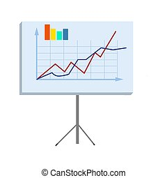 Business Chart on Stand Isolated illustration
