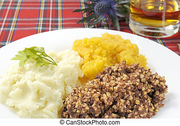 Haggis Neaps and Tatties - Haggis, neaps and tatties, or...