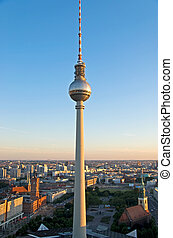ベルリン, 航空写真, イメージ