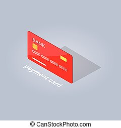 Plastic Detailed Payment Card Cartoon Style Flat - Plastic...
