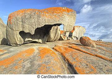 Remarkable rocks, Australia - Early morning light shining on...