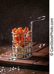 Variety of french fries - Seet potato or carrot french fries...
