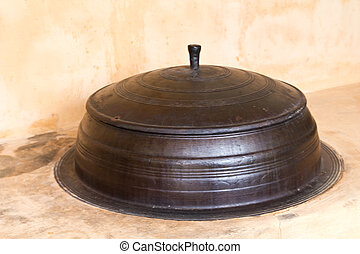 pot - Korean style metal pot with closed cover stove used as...