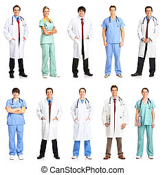 doctors and nurses - Smiling medical people with...