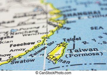 taiwan on map