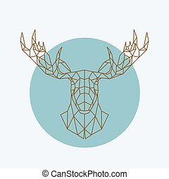 Geometric moose head.