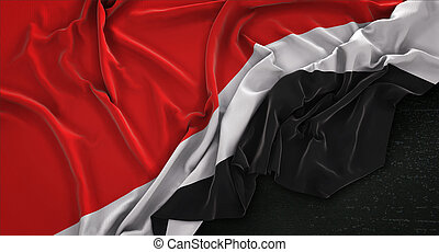 Principality of Sealand Flag Wrinkled On Dark Background 3D...