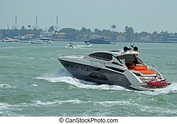 Upscale Cabin Cruiser - Luxury cabin cruiser on the florida...