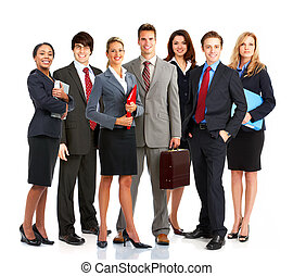 Business people - Group of young smiling business people....