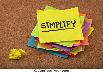 simplify reminder - pragmatic or get organized concept,...