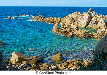 Blue sea and rocks - Costa Paradiso in spring, Sardinia