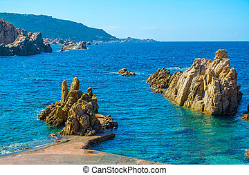 Rocks and sea - Costa Paradiso in spring, Sardinia