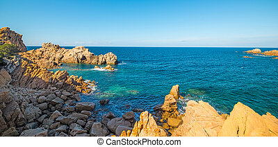 Costa Paradiso colorful shore - Costa Paradiso in spring,...