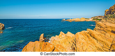 Costa Paradiso on a clear day - Costa Paradiso in spring,...