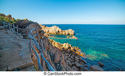 Steps by the shoreline - Costa Paradiso in spring, Sardinia