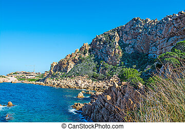 Rocks and sea in Sardegna - Costa Paradiso in spring,...